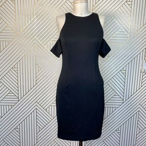 N/Nicholas Black Cold Shoulder Sheath Dress